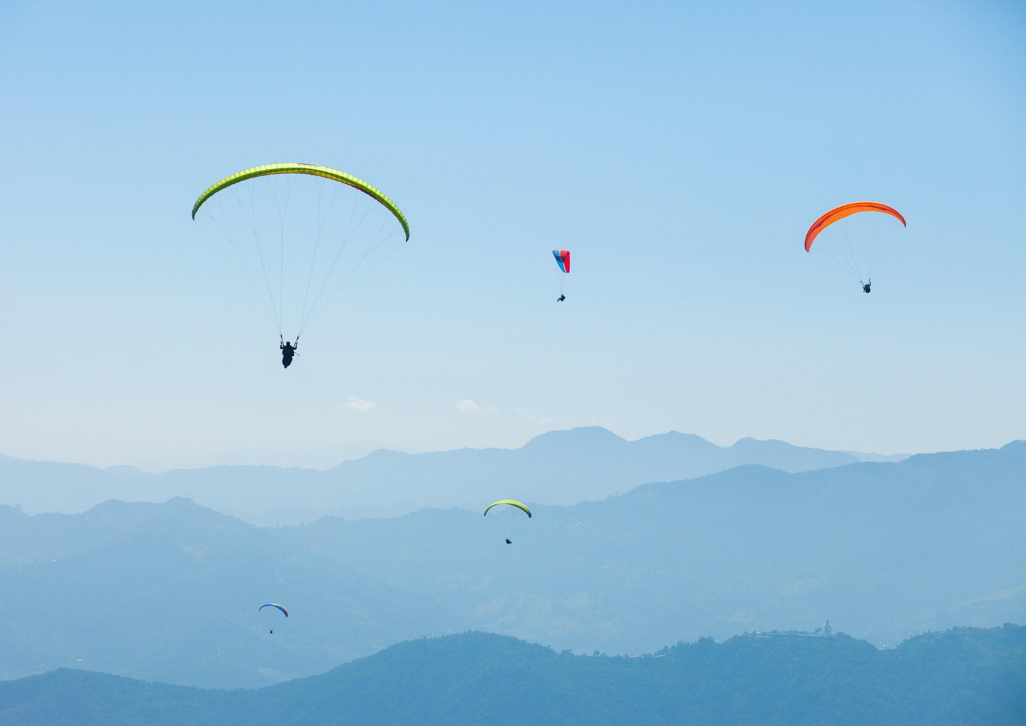 Paragliding over Pokhara, Nepal